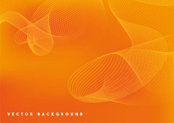 bildbanksillustrationer, clip art samt tecknat material och ikoner med abstrakt teknik orange vektor bakgrund - gul bakgrund