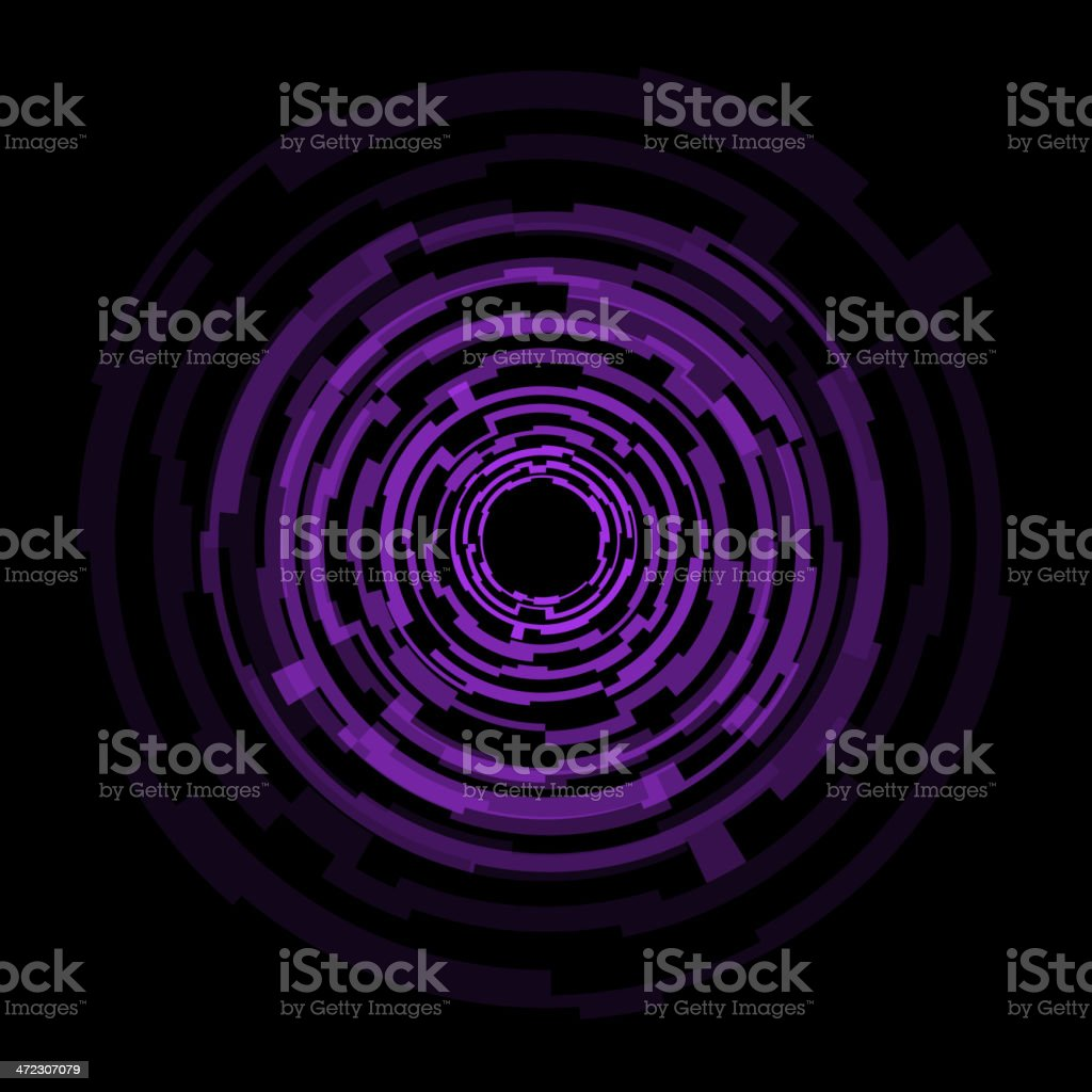 Abstract technology purple circles background royalty-free stock vector art