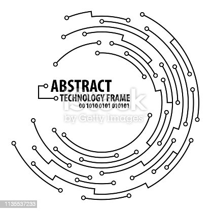 istock Abstract technology round frame 1135537233