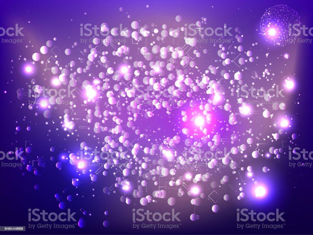 Ilustración De Resumen Tecnología Espacio Galaxia Connect