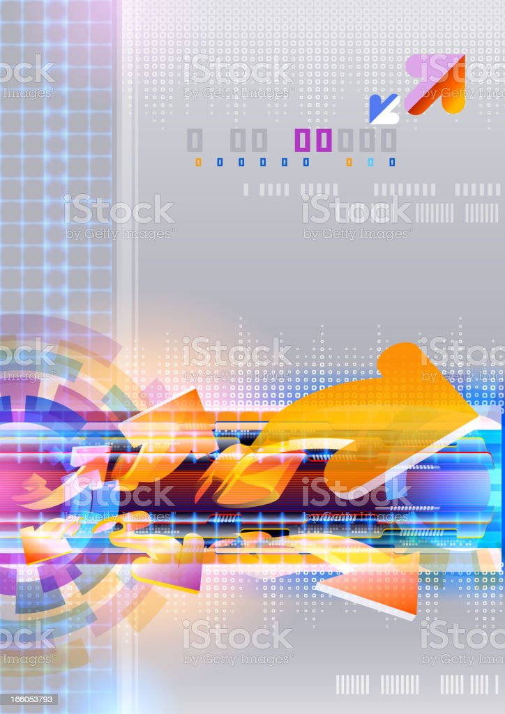 Abstract Technology Style royalty-free stock vector art