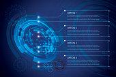 Technology, Circle, Internet, Data, Binary Code