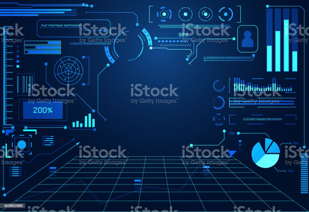 abstract technology ui futuristic concept hud interface hologram
