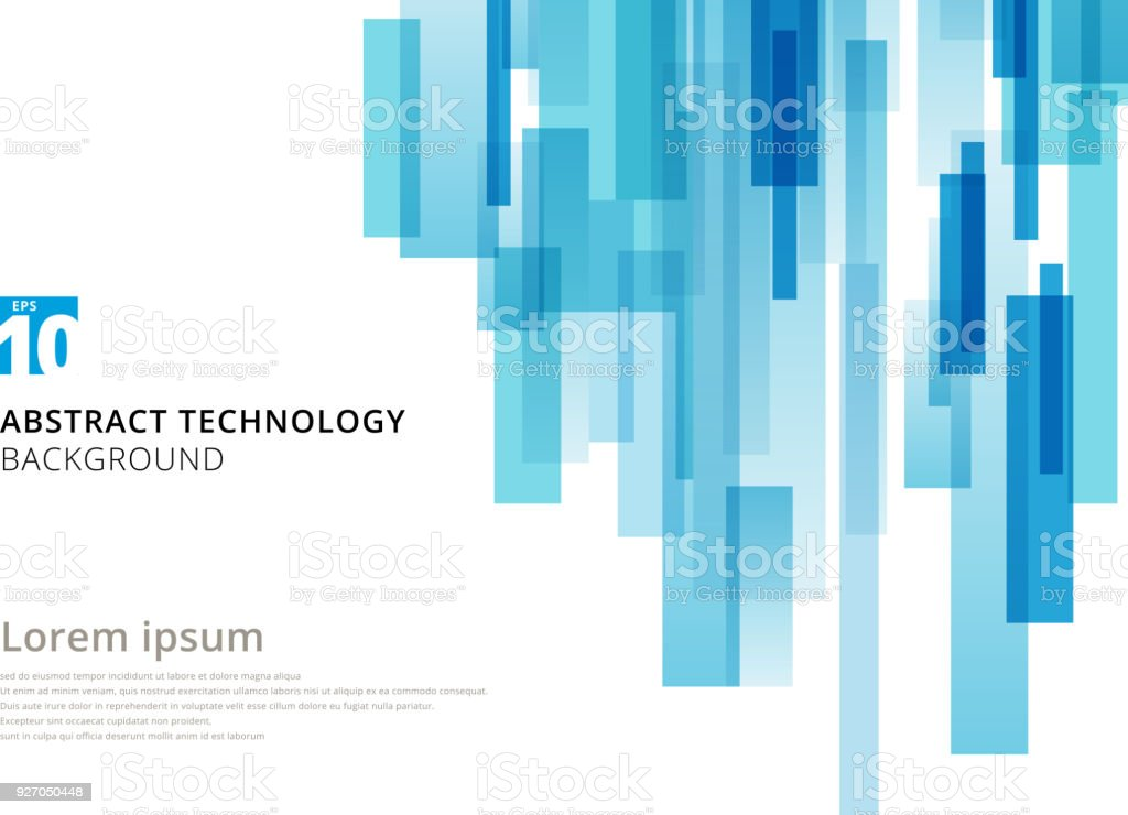Abstract technology vertical overlapped geometric squares shape blue colour on white background with copy space. royalty-free abstract technology vertical overlapped geometric squares shape blue colour on white background with copy space stock illustration - download image now
