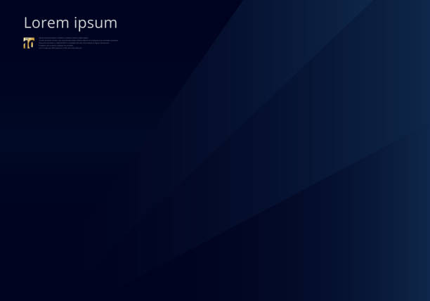 Abstract template dark blue geometric triangles background luxury premium style. Abstract template dark blue geometric triangles background luxury premium style. Vector illustration dark blue stock illustrations
