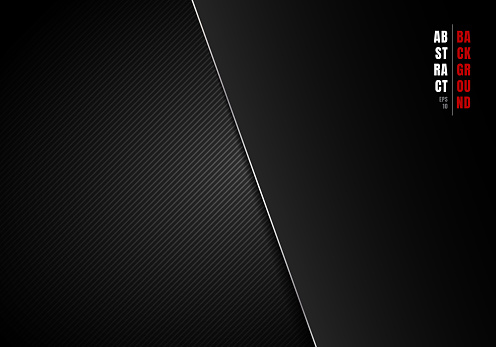 Abstract template diagonal lines striped black and gray gradient background and texture with lighting and space for your text. Luxury style. You can use for your business.