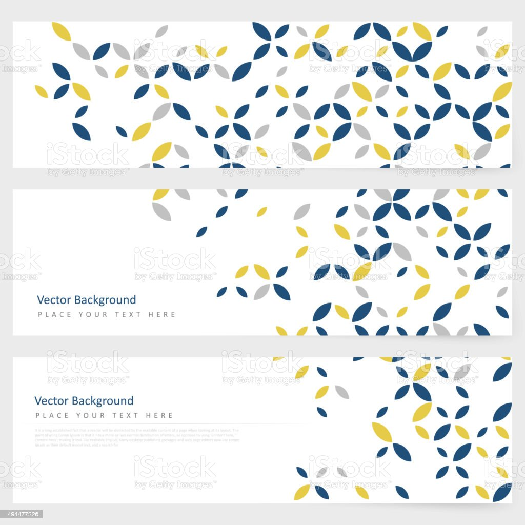 Abstract template horizontal banner vector art illustration