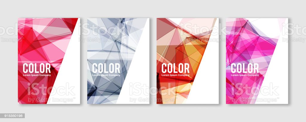Abstract templates with colorful Geometric Polygons. Vector covers design. Future Poster template. vector art illustration
