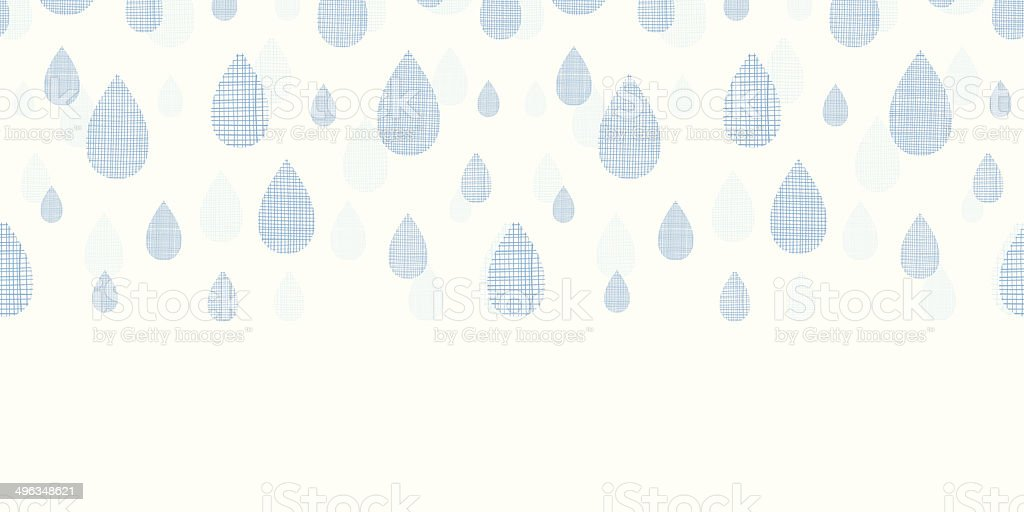 Abstract textile blue rain drops horizontal seamless pattern background royalty-free abstract textile blue rain drops horizontal seamless pattern background stock vector art & more images of abstract