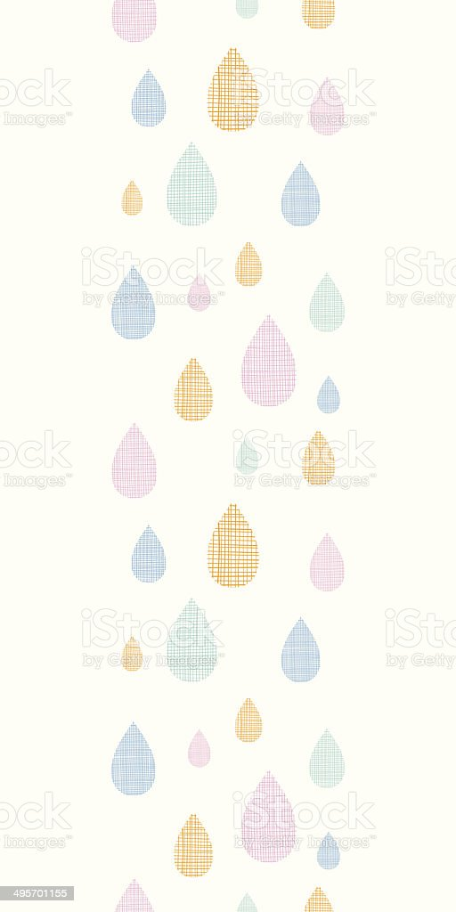 Abstract textile colorful rain drops vertical seamless pattern background royalty-free stock vector art