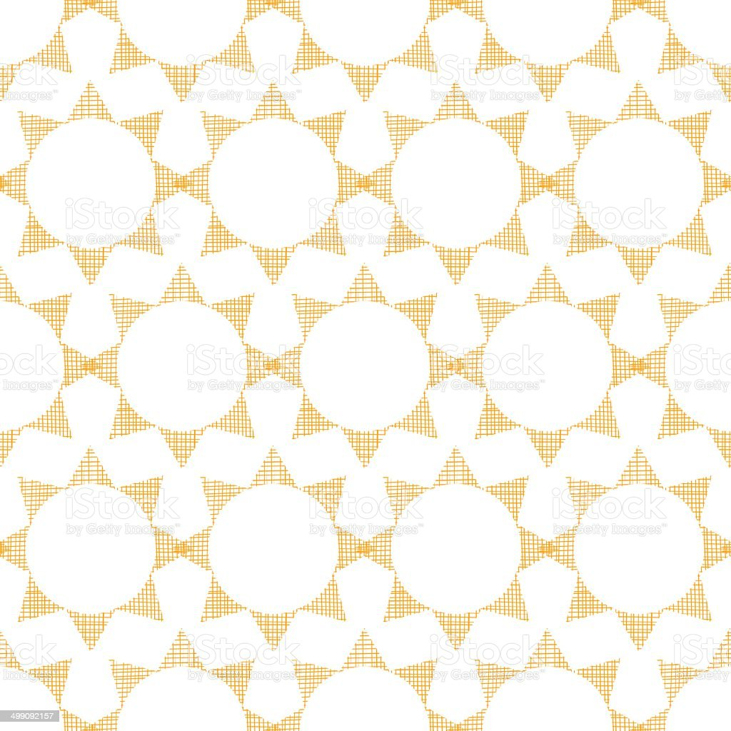 Abstract textile golden suns geometric seamless pattern background royalty-free stock vector art