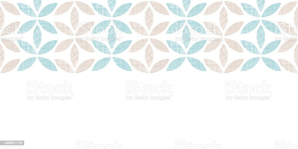 Abstract textile leaves stripes horizontal seamless pattern background royalty-free stock vector art
