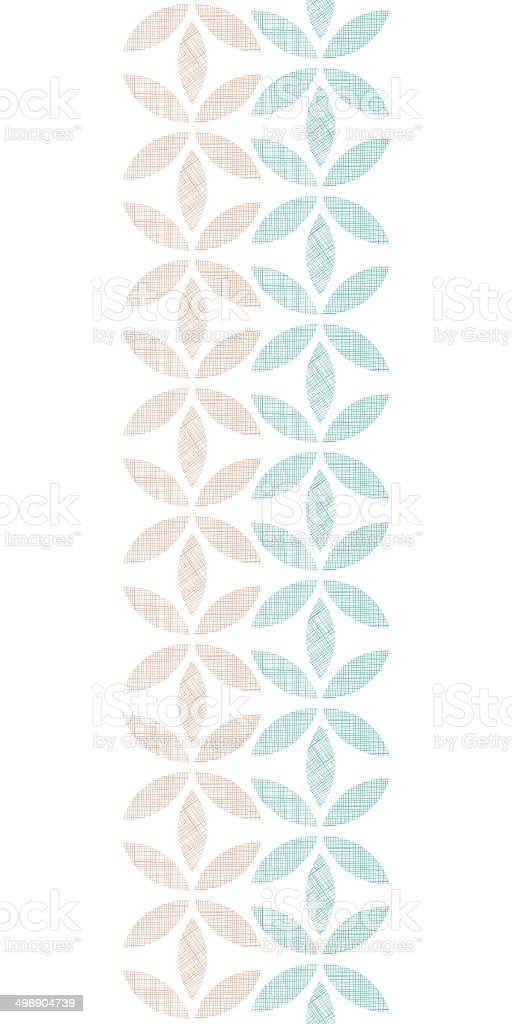 Abstract textile leaves stripes vertical seamless pattern background royalty-free stock vector art