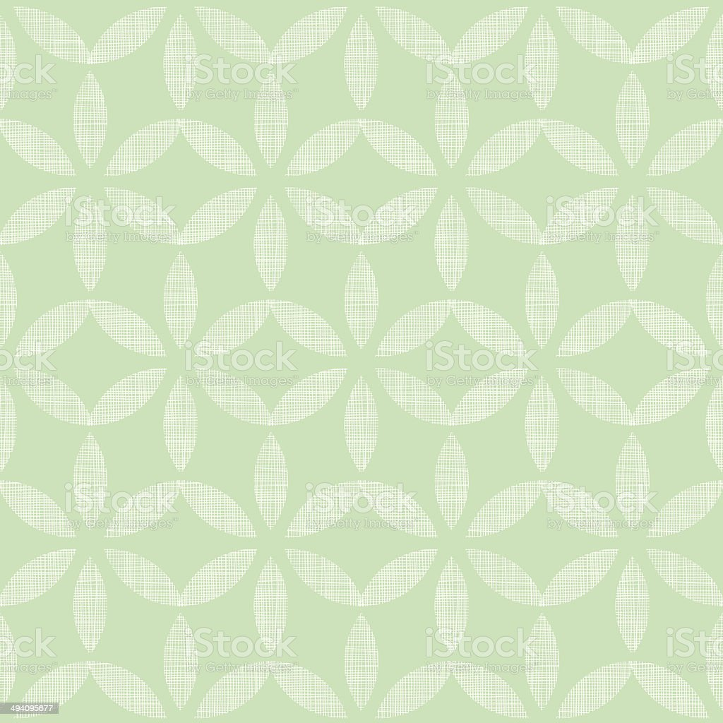 Abstract textile mint green leaves geometric seamless pattern background royalty-free stock vector art