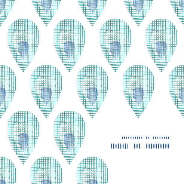 ilustrações de stock, clip art, desenhos animados e ícones de abstrato moldura de penas de pavão têxtil canto backgorund padrão - pena de pássaro algodão