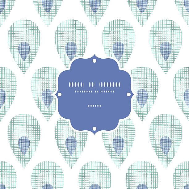 ilustrações de stock, clip art, desenhos animados e ícones de abstrato moldura de penas de pavão têxtil sem costura padrão backgorund - pena de pássaro algodão