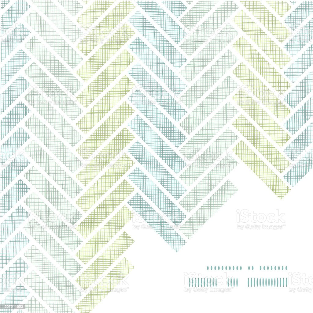 Abstract textile stripes parquet frame corner pattern background vector art illustration