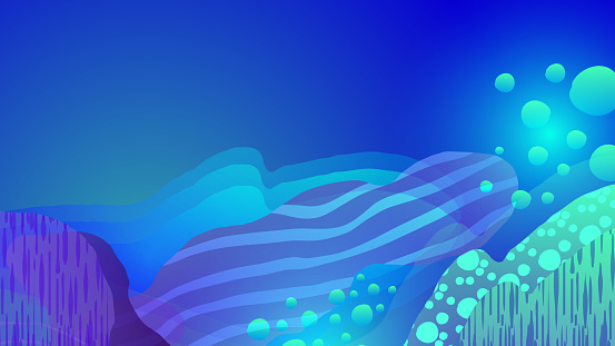 Abstract texture bright banner illustration - Concept of sea reefs and corals.