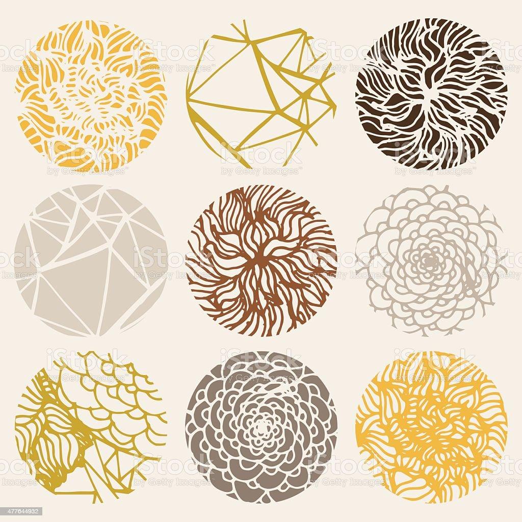 Abstract Texture Set vector art illustration