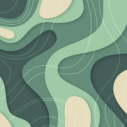 Abstract Textured Cut Paper Background