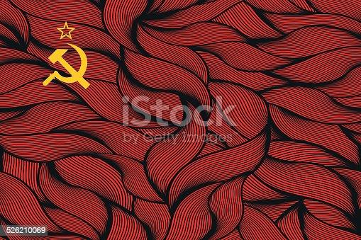istock Abstract textured flag of Soviet Union. 526210069
