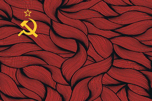 추상적임 질감 플랙 of 소련 우니온. - 러시아 stock illustrations