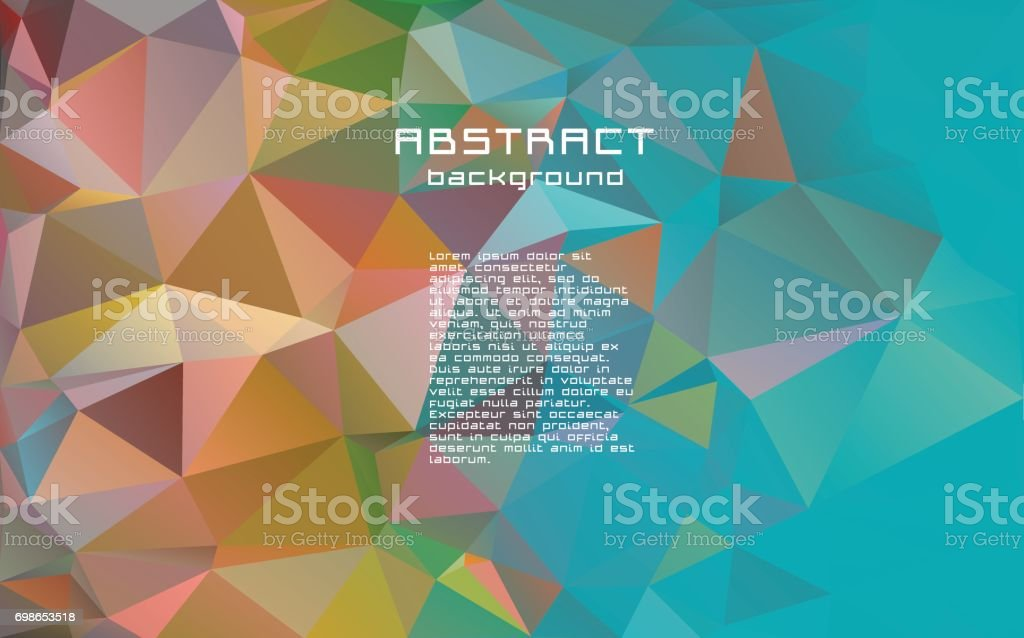 Abstract textured polygonal vector motley triangle background. vector art illustration