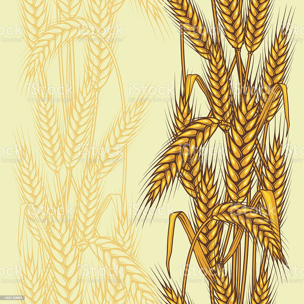 Abstract textured wheat field. royalty-free stock vector art