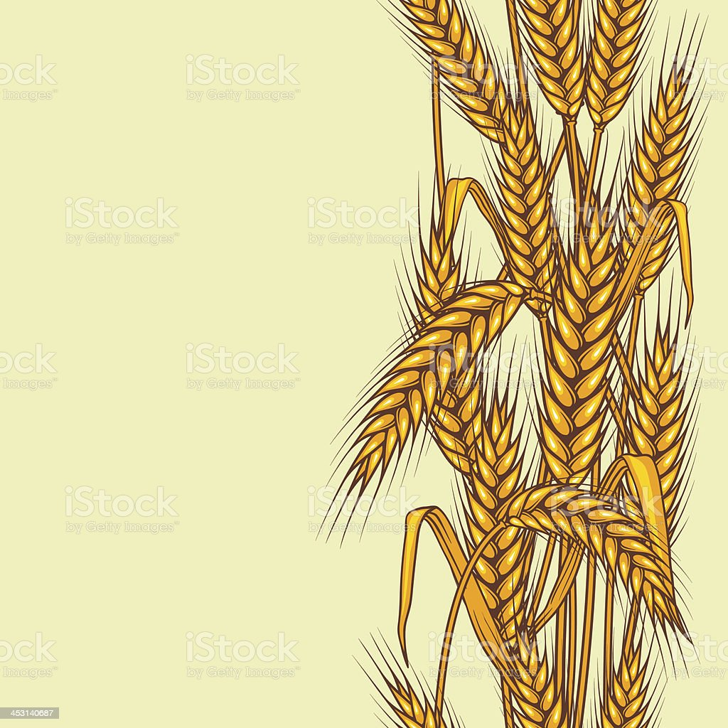 Abstract textured wheat field royalty-free stock vector art