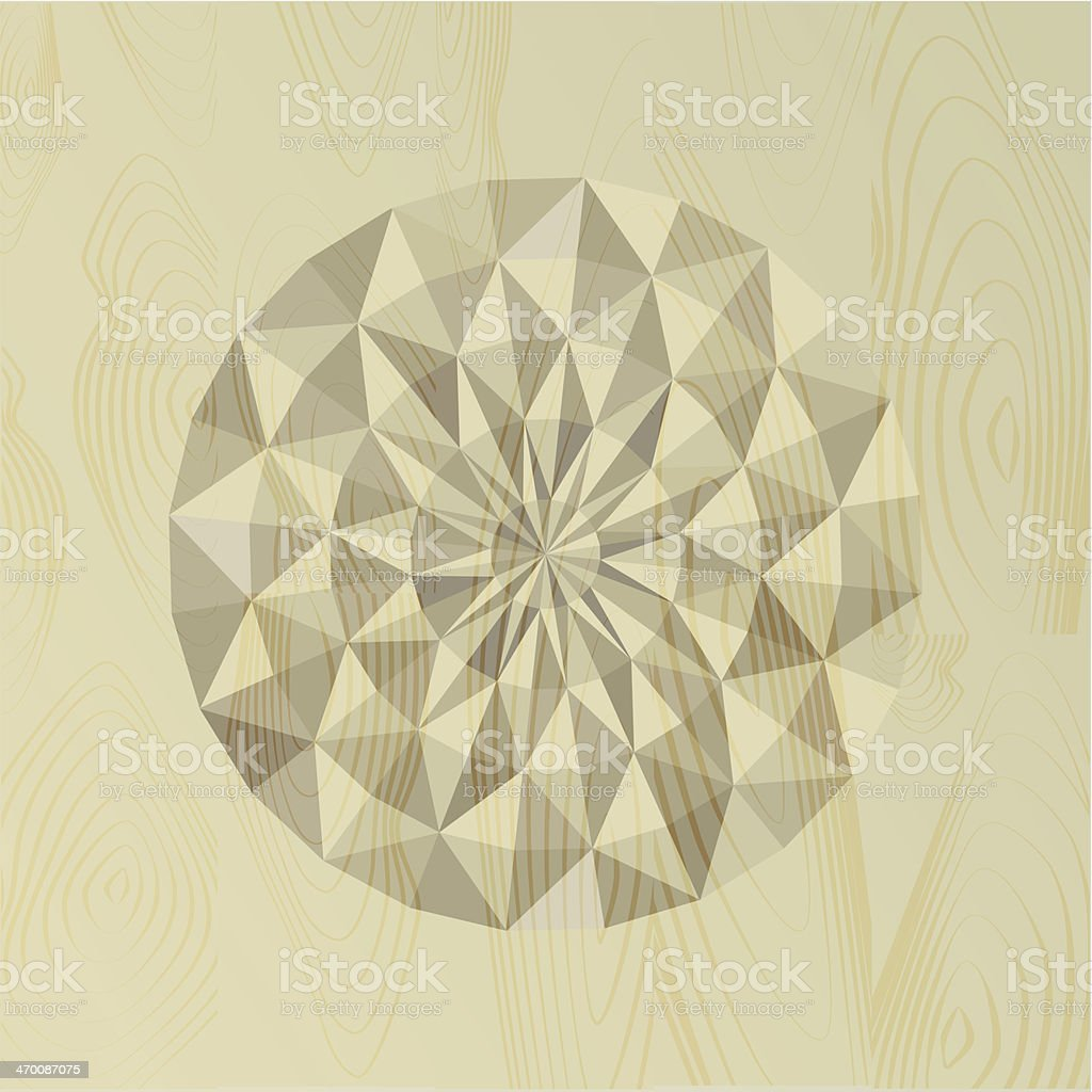 Abstract textured wooden carving. royalty-free stock vector art