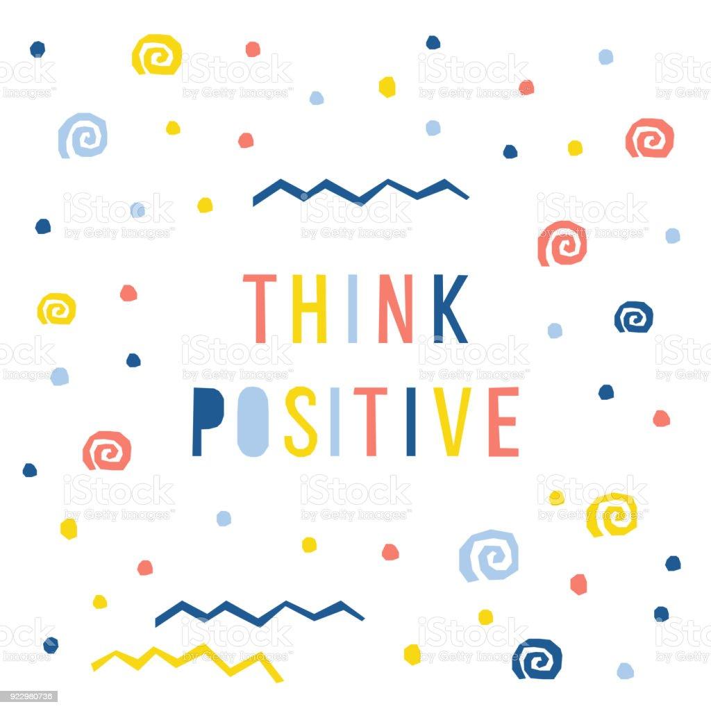 Abstrakt Denken Positive Kartenvorlage Handgemachte Kindisch Briefe ...