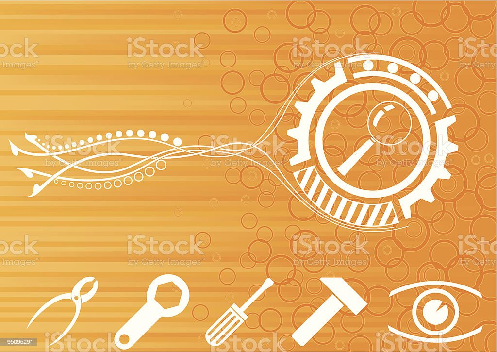 Abstract tools whith nice background royalty-free abstract tools whith nice background stock vector art & more images of adjustable wrench