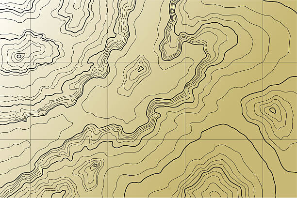 abstract topographic map abstract topographic map in brown colors relief emotion stock illustrations