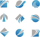 Abstract trail logos and icons