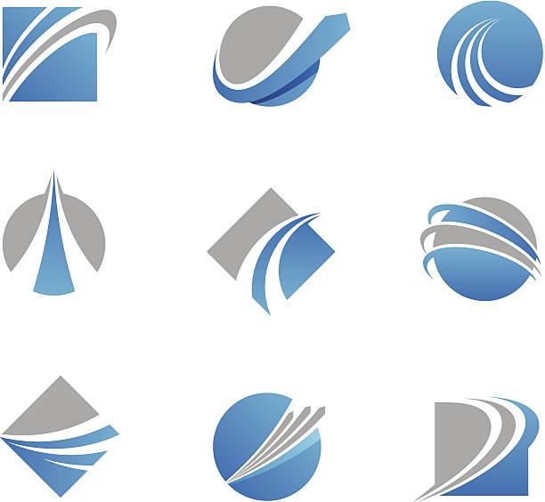 Abstract trail logos and icons http://www.markoradunovic.com/istock/logos.jpg airport clipart stock illustrations