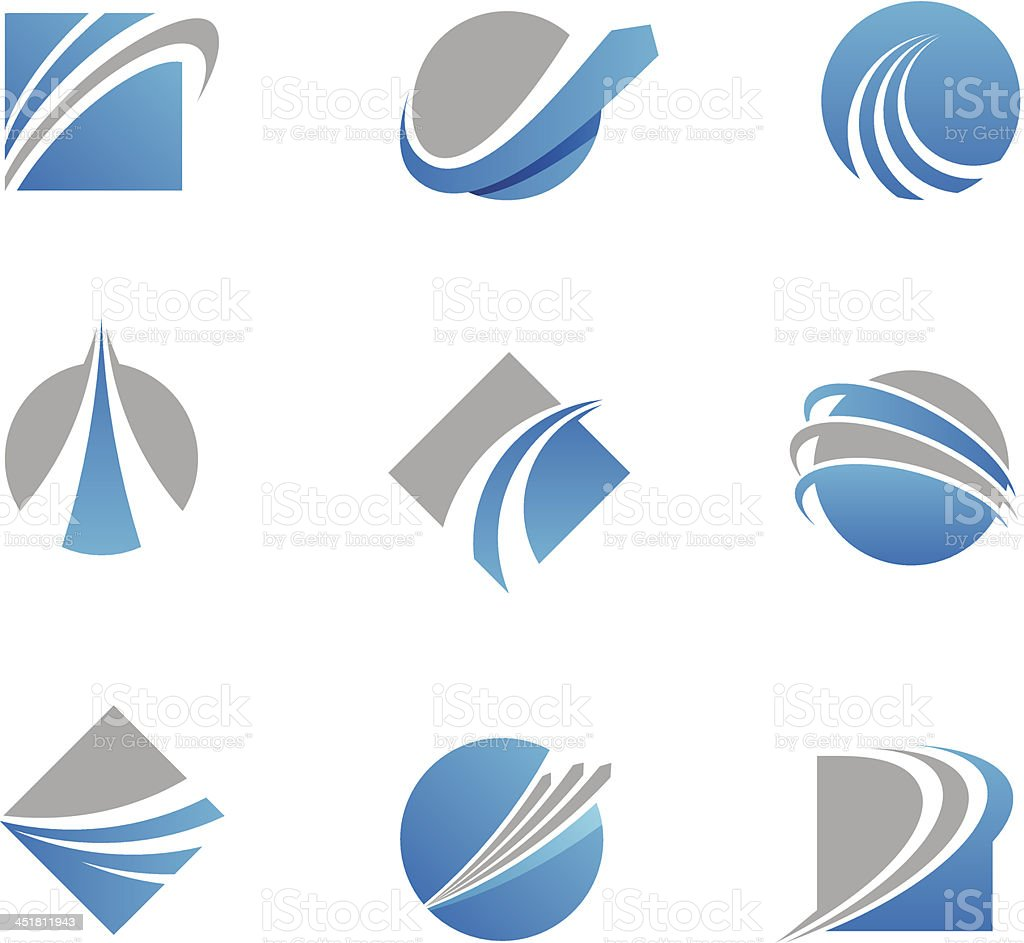 Abstract trail logos and icons vector art illustration
