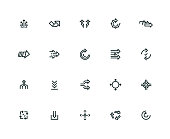 Abstract Transition Icon Set - Thick Line Series