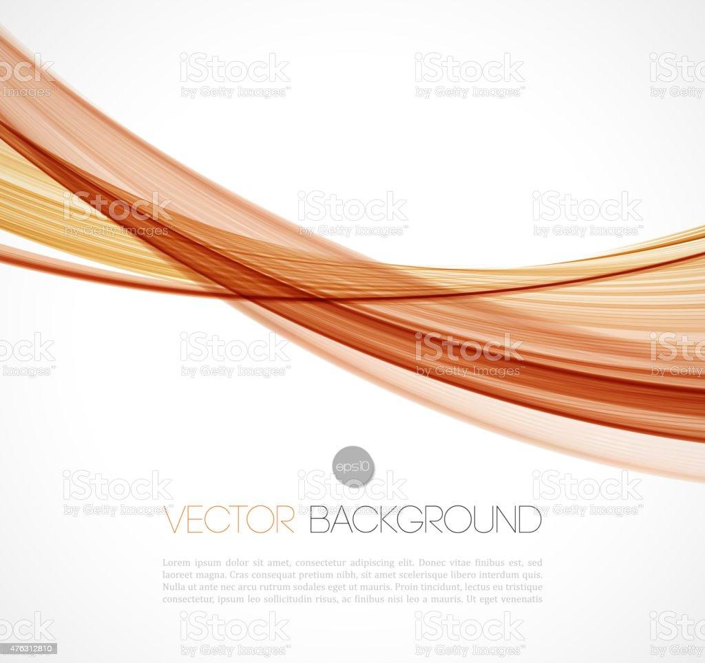 Abstract transparent fractal wave template  background brochure design vector art illustration