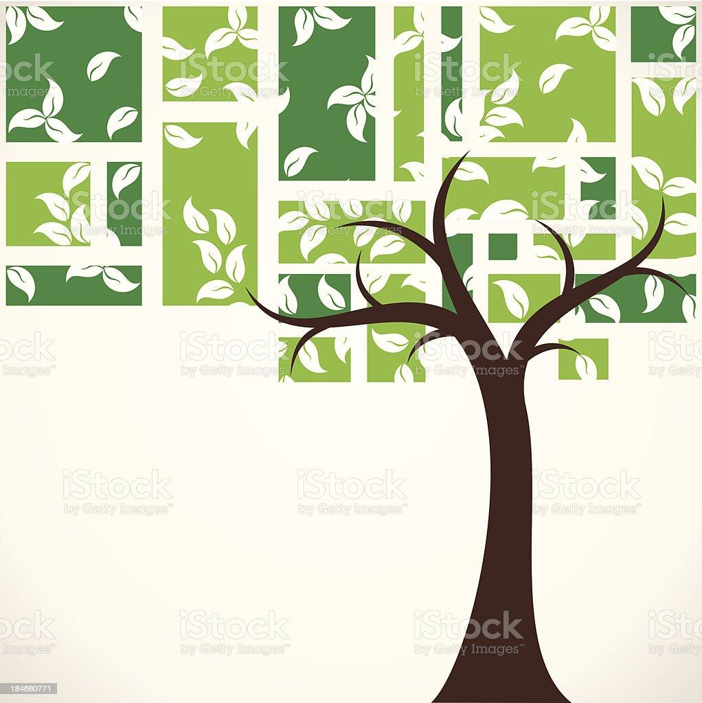 abstract tree background vector art illustration