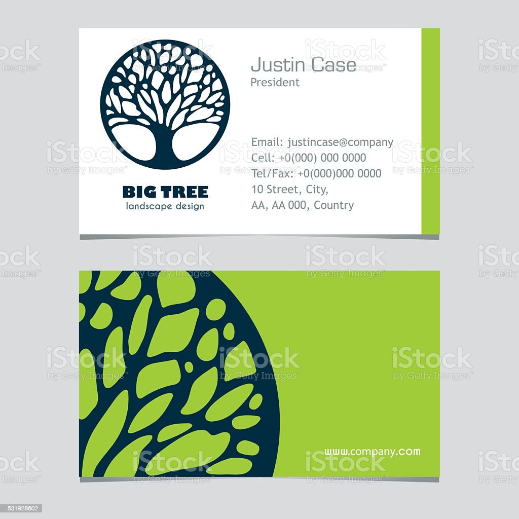 Abstract tree busibess sign business card design stock vector art abstract tree busibess sign business card design royalty free stock vector art magicingreecefo Images