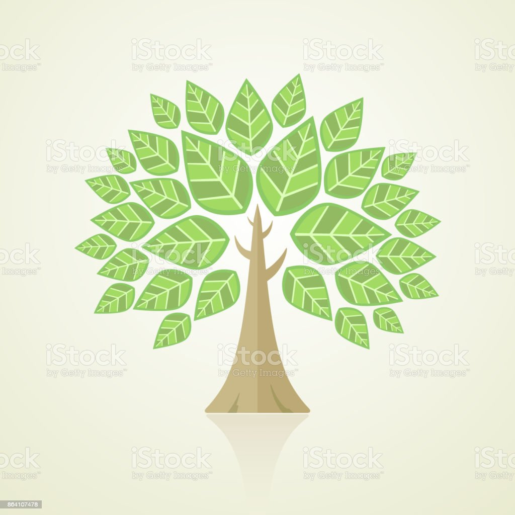 Abstract Tree on green background royalty-free abstract tree on green background stock vector art & more images of abstract