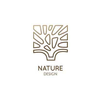 Abstract tree square logo