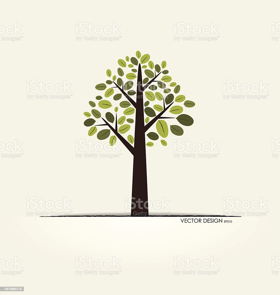 Abstract tree. Vector illustration. royalty-free stock vector art
