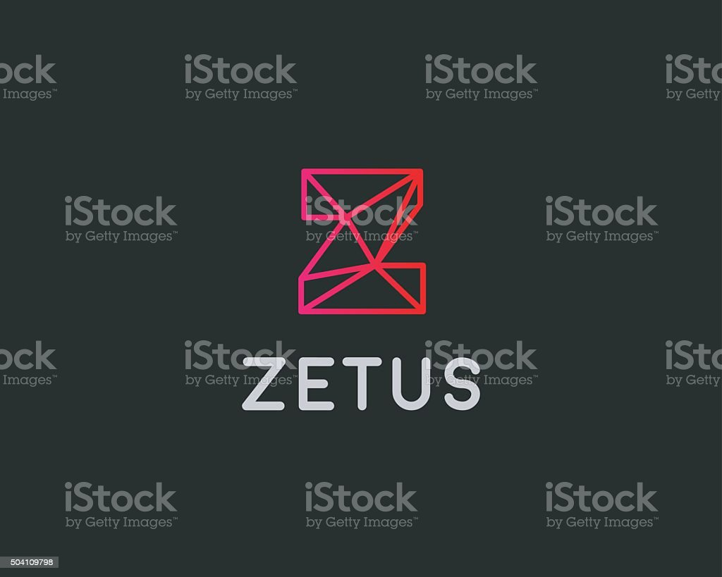 abstract trend letter z logo design template colorful structure