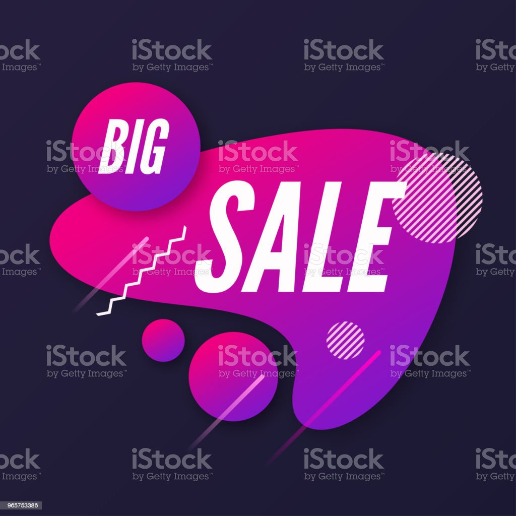 Abstract trendy dynamische stijl samenstelling, promotie banner, dis - Royalty-free Abstract vectorkunst