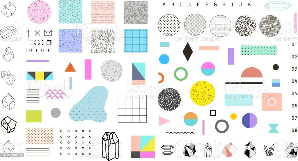 Extrêmement Abstrait Ensemble Branché Avec Différentes Formes Géométriques  DP54