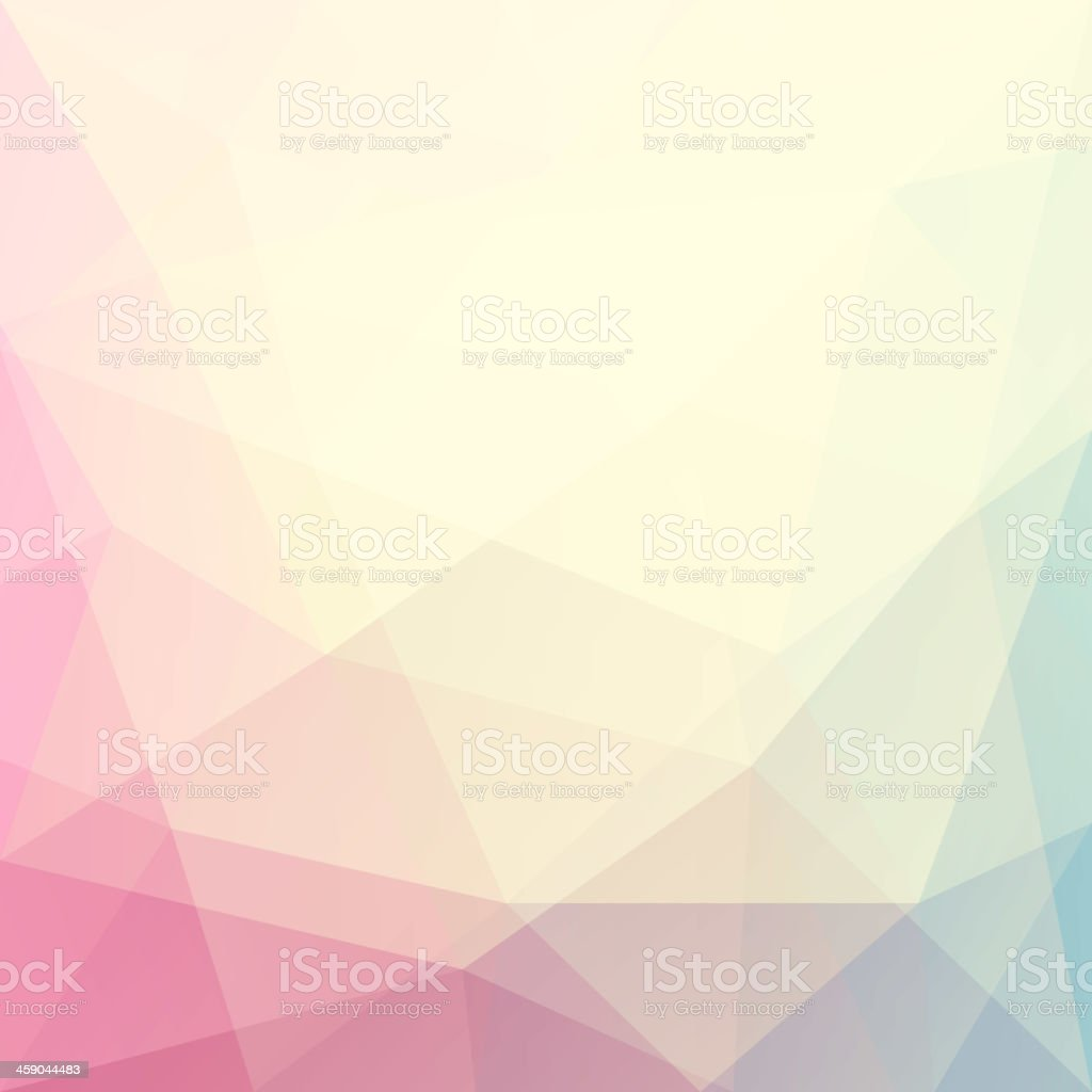 Abstract triangle art in pastel colors vector art illustration