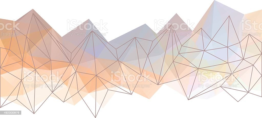 Abstract triangle background vector art illustration