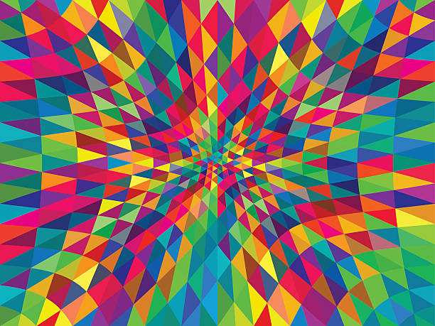 abstract triangle background abstract triangle background; eps 10; zip includes aics2, high res jpg crisscross stock illustrations