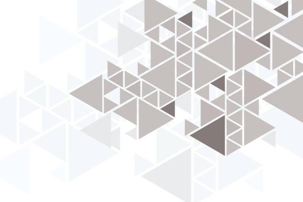 stockillustraties, clipart, cartoons en iconen met abstracte driehoek bg - driehoek